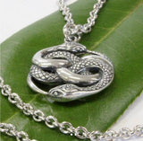 Auryn Snakes Sterling Silver Necklace