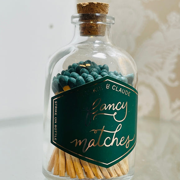Jar of Fancy Green Matches Small