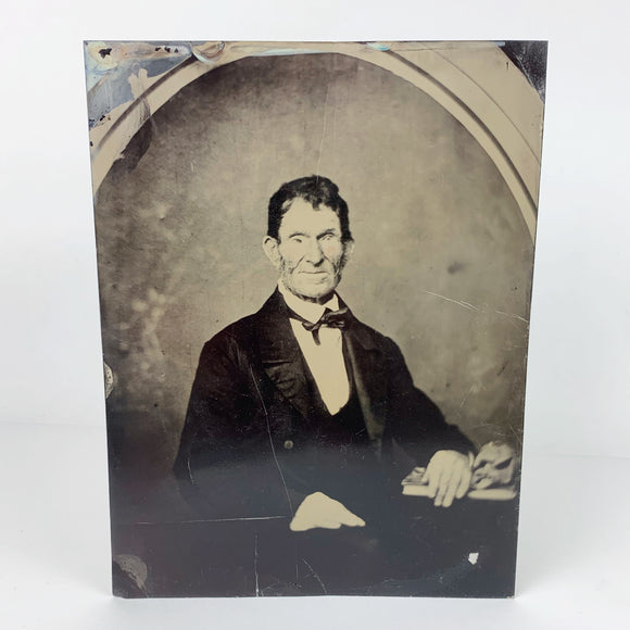 Victorian Man Large Tintype Photograph