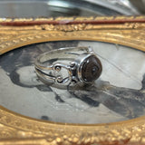 Raven Eye Sterling Silver Scroll Filigree Ring