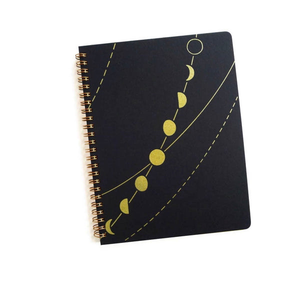 Moon Phase Coil Notebook