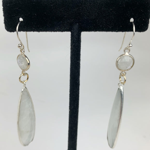 Sterling Moonstone Teardrop Earrings