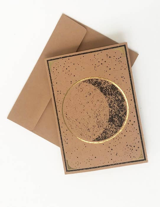 Crescent Moon Metallic Gift Card