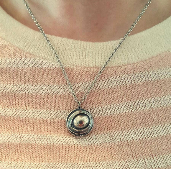 Eye Of The Raven Protection Amulet Necklace - Sterling Silver