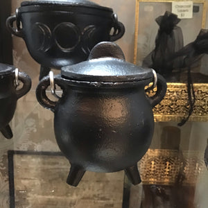 Small Black Cast Iron Cauldron 3""