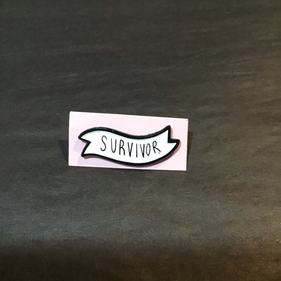 Survivor Enamel Pin