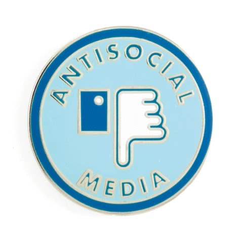 Antisocial Media Enamel Pin
