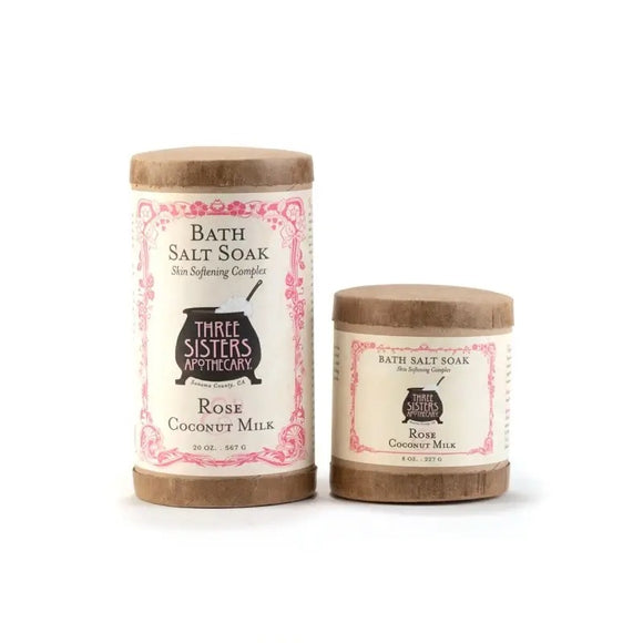 Three Sisters Rose & Coconut Milk Bath Salt Soak