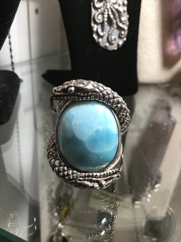 Snake Larimar Sterling Ring