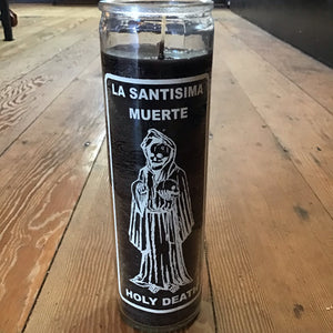 Holy Death La Santisima Black 7 Day Candle