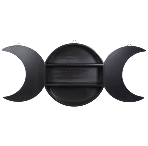 Triple Goddess Moon Wall Shelf