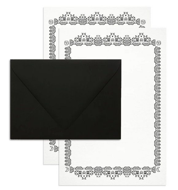 Memento Mori Social Stationery Set