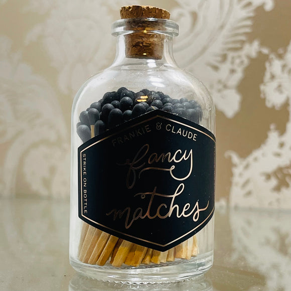 Jar of Fancy Black Matches Small