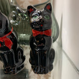 Antique Black Cat Salt & Pepper Shakers