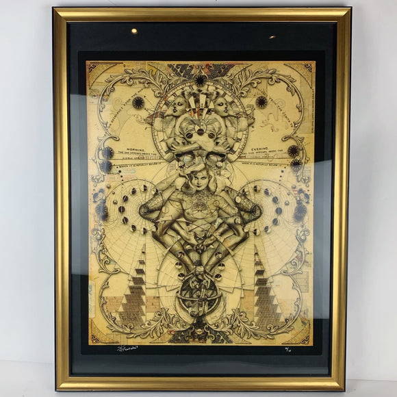 { Pentade } Handiedan Giglee Print Signed Numbered and Framed