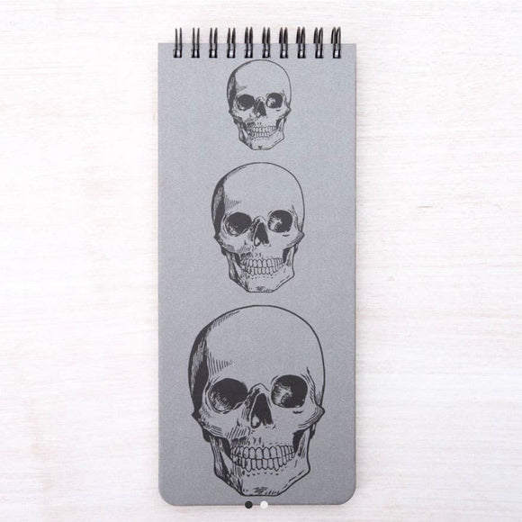 Skulls Skinny Notebook