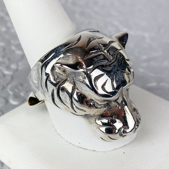 Sterling Tiger Ring