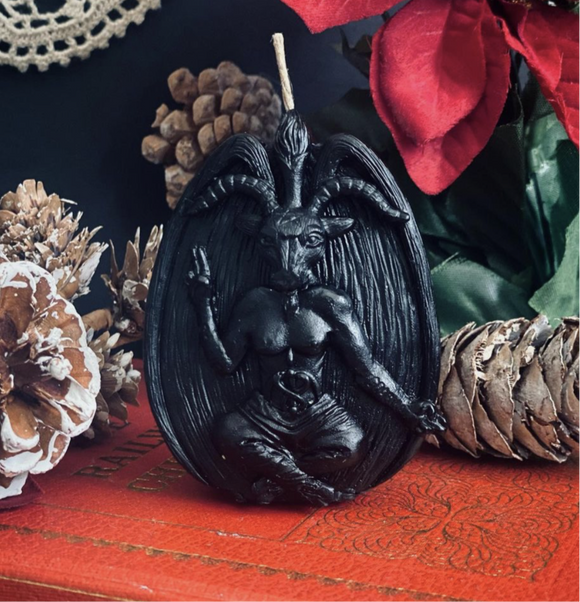 The Beckoning- Baphomet Scented Beeswax Candle