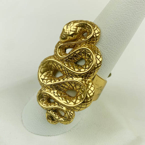 Snake Ring Gold Plated