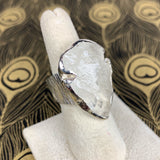 Clear Quartz Arrowhead Sterling Ring