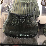 Owl Vase Small Smoke