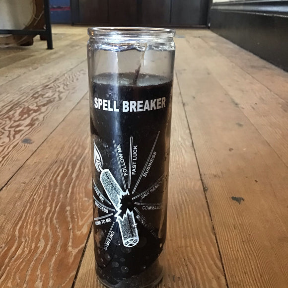 Spell Breaker Black 7 Day Candle