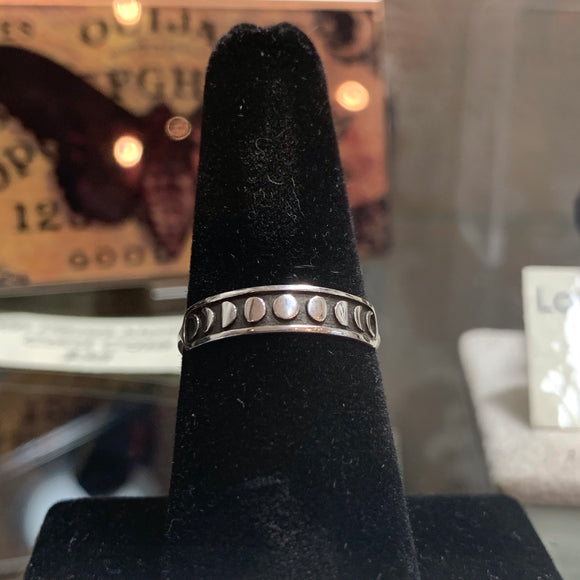 Moon Phase Stacker Sterling ring