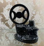 Black Metal Triple Moon BackFlow Incense Burner