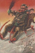 Krampus Gift Card Sleigh In Snow