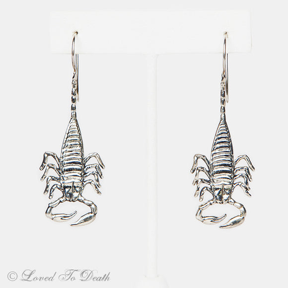 Sterling Silver Scorpion Earrings