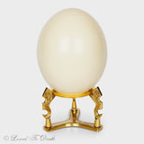 Ostrich Egg With Ornate Stand