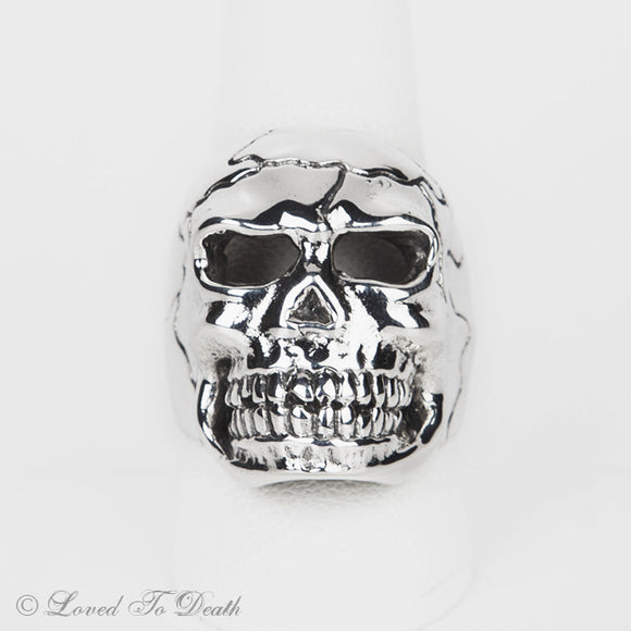 Sterling Silver Large Skull Ring