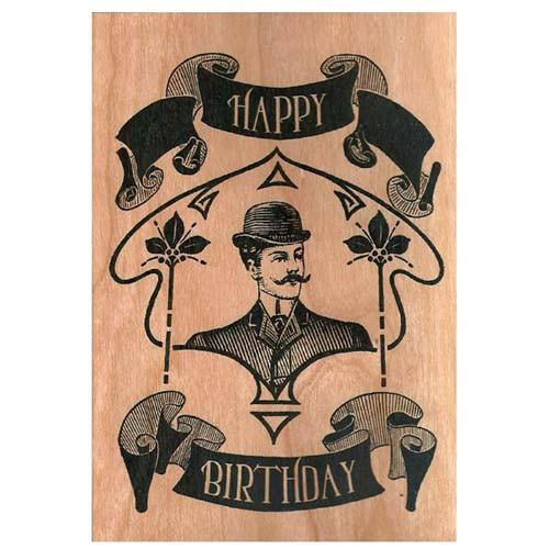 Victorian Gent Wooden Gift Card