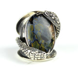 Snake Pietersite { Blue } Sterling Ring