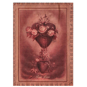 True Love Sacred Heart Wooden Gift Card