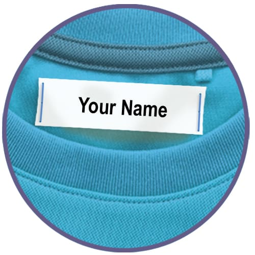 Sew On Clothing Labels, 1, 2 or 3 Line (Qty. 100)