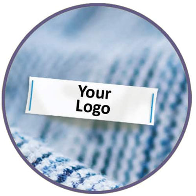 Sew On Clothing Labels, Custom Image (Qty. 100)