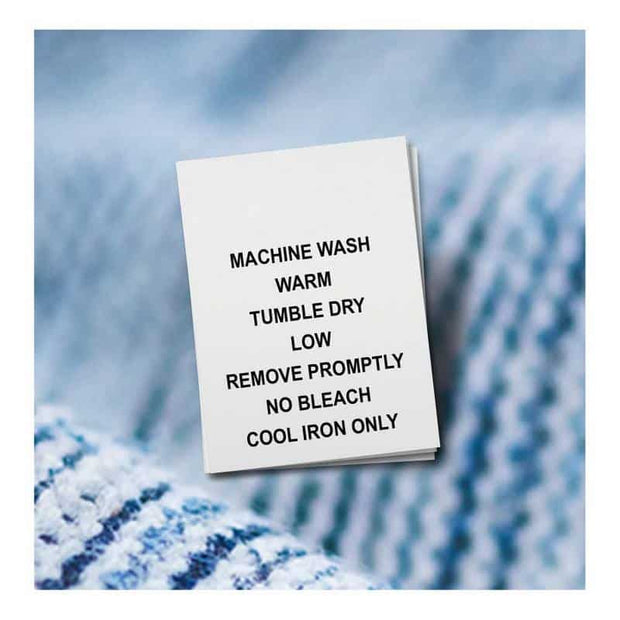 machine wash labels