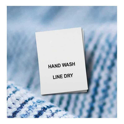 Hand wash labels - line dry