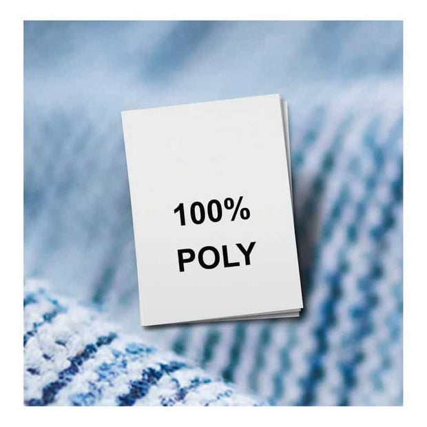 fabric content labels - poly