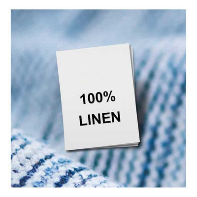 100% Linen, Fabric Content Label