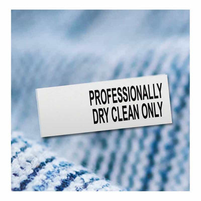 Professionally Dry Clean Only, Half Inch label