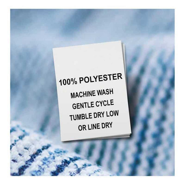 wash care labels - polyester