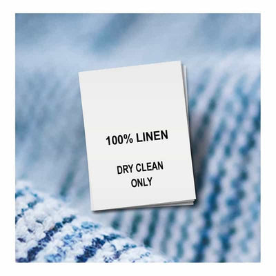 100% linen, dry clean only
