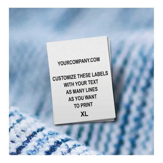 care labels customized with your text