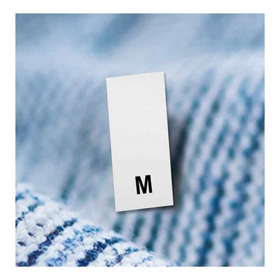 garment size labels m
