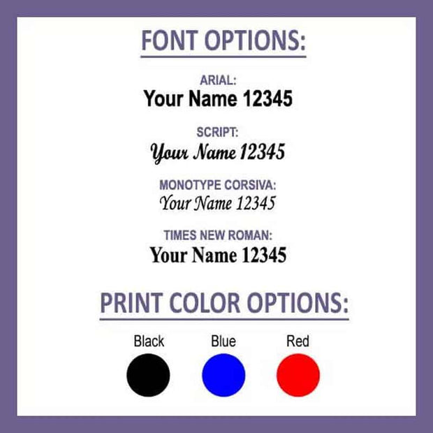 Iron On Labels with Icon (Qty. 100)