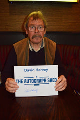 David Harvey private signing Leeds United photo proof signed