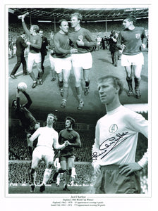 Jack Charlton hand signed montage photo autograph - certificate of authenticity - photo proof