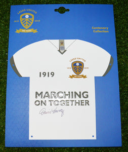 David Harvey Hand Signed Leeds United Centenary Metal Kit Autograph